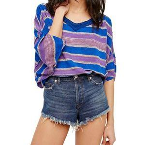 Free People Love Me Too Stripe Sweater